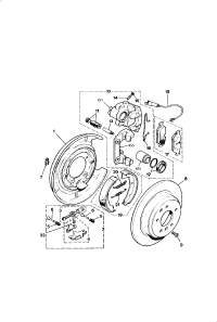 BRAKE DISC AND CALIPER REAR ANTI LOCK BRAKE SYSTEM