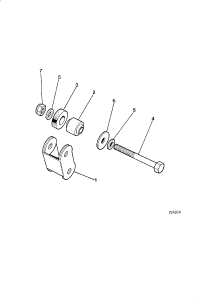 STEERING RACK AND PINION MOUNTINGS 5 3 LITRE