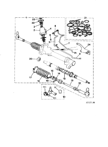 STEERING RACK AND PINION 5 3 LITRE
