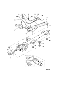 STEERING COLUMN AND LOCK ASSEMBLY UPPER