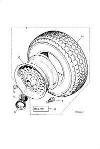 ROAD WHEEL AND TYRE ALLOY