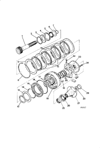 OUTPUT SHAFT AND F CLUTCH 3 6 LITRE