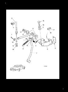 ACCELERATOR PEDAL LINKAGE RHD (5.3 Litre,RHD)
