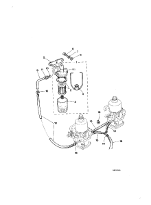 FUEL FILTER HOSES MANUAL CHOKE TO END 1983MY