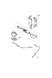 ELECTRIC PARKBRAKE ASSEMBLY AND CABLES
