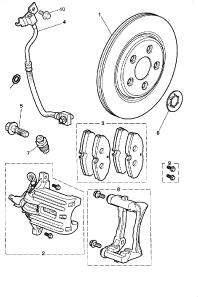 BRAKE DISC AND CALIPER REAR NON SUPERCHARGED