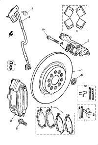 BRAKE DISC AND CALIPER REAR SUPERCHARGED