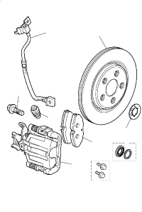 BRAKE DISC AND CALIPER REAR