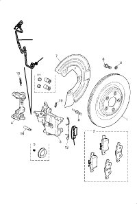 BRAKE DISC AND CALIPER REAR