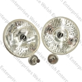 "Jaguar 7"" J Lamp Pair With Bulbs"
