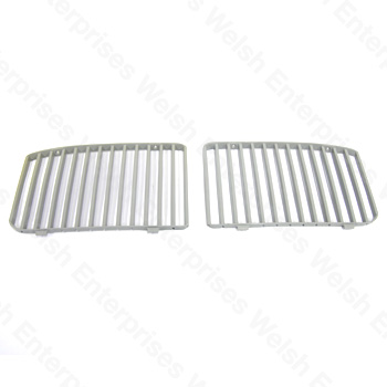 Jaguar Grill Vane Assembly Gray - Pair