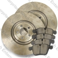 Jaguar Front Brake Rotor and Pad Kit