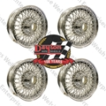 "Jaguar Dayton Wire Wheel (Set of 4) - 5"" Tubeless"