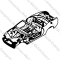 Jaguar Body Shell - Convertible (01 & up)