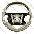 Jaguar Steering Wheel - Warm Charcoal & Grey Wood - NOS
