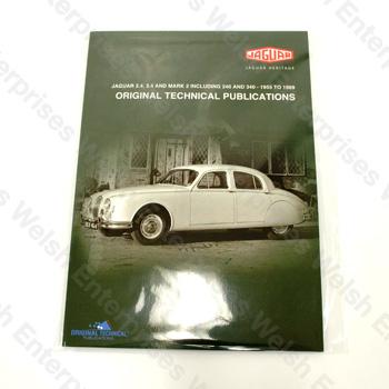 jaguar 2 4 3 4 mk2 - 1955-1969 - dvd manual jaguar parts and accessories  from welsh enterprises