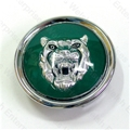 Jaguar Wheel Motif - Green with Silver Catface