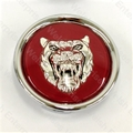 Jaguar Wheel Motif - Ruby with Silver Catface