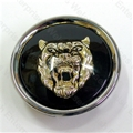 Jaguar Wheel Motif - Black with Gold Catface