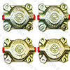 Jaguar Front Brake Caliper (1/2) - Set of 4