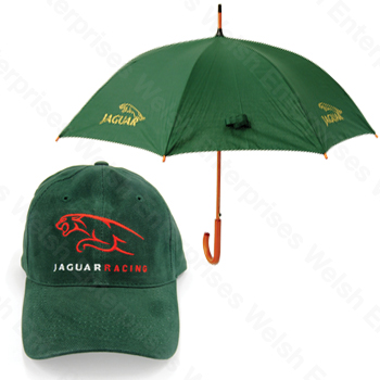 caa9c590811 Jaguar Umbrella And Hat Combo Jaguar Parts and Accessories from Welsh  Enterprises