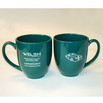 Jaguar Welsh Ceramic Mug Green