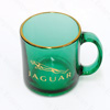 Jaguar Green Glass Jaguar Mug