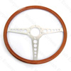 Jaguar Steering Wheel - Aluminum Wood 16""
