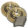 Jaguar Rear Brake Rotor / Pad Kit