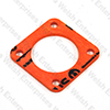 "Jaguar Su Hd8 2"" Carburetor Insulator Block - Orange"
