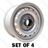 Jaguar Dunlop Wheel Set of 4 - E-Type