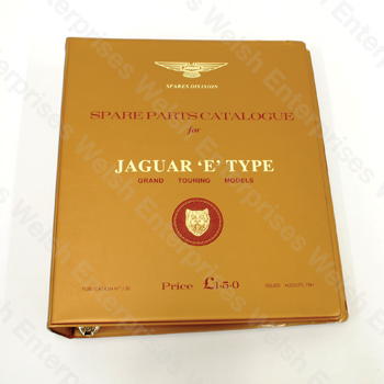 Jaguar E-Type 3.8 (61-64) Parts Manual