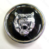 Jaguar Wheel Motif - Black with Silver Catface