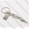 Jaguar Leaper Key Ring With Engraving Plate