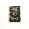 Jaguar Teclamit Oil Badge
