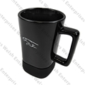 Jaguar Black Ceramic Coffee Mug