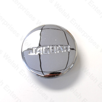 Jaguar Oil Filler Cap - Chrome Lettering