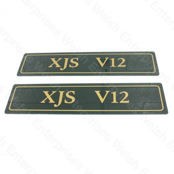 "Jaguar Sign Number Plts ""XJS V12"