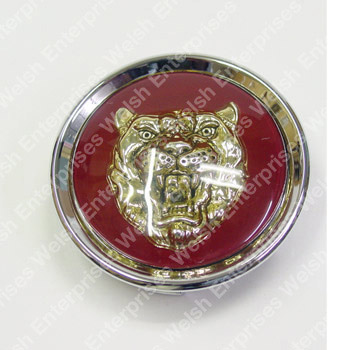 Jaguar Wheel Badge Ruby W/Gold