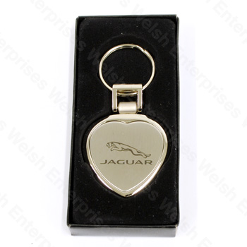 Heart Shaped Jaguar Keychain