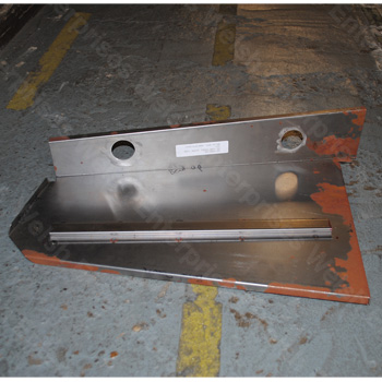 XK140 XK150 LH Spare Tire Tray Side Panel