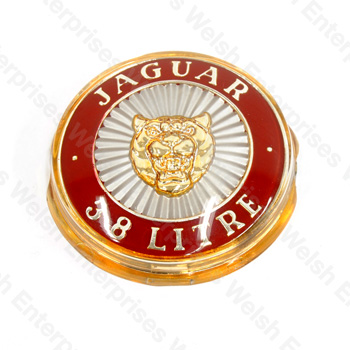 Jaguar 3.8 Litre Grille Badge