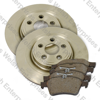 S-Type XJ Rear Brake Rotor and Pad Kit