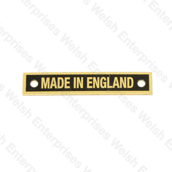 Made In England Plate