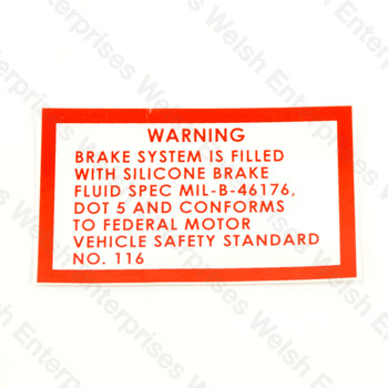 Silicone Brake Fluid Decal