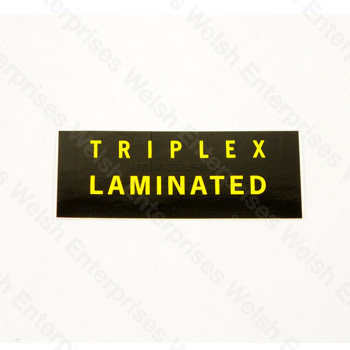 Triplex Windshield Decal