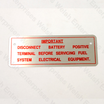 Battery Disconnect Decal - E-Type