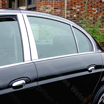 Door Pillar Chrome - S-Type - 6 pc kit