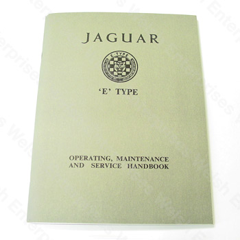 E-Type (61-64) Owners Manual