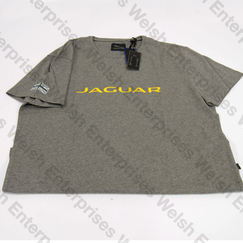 Jaguar Wordmark Mens T-Shirt (UK Double Exta Large US Extra Large)